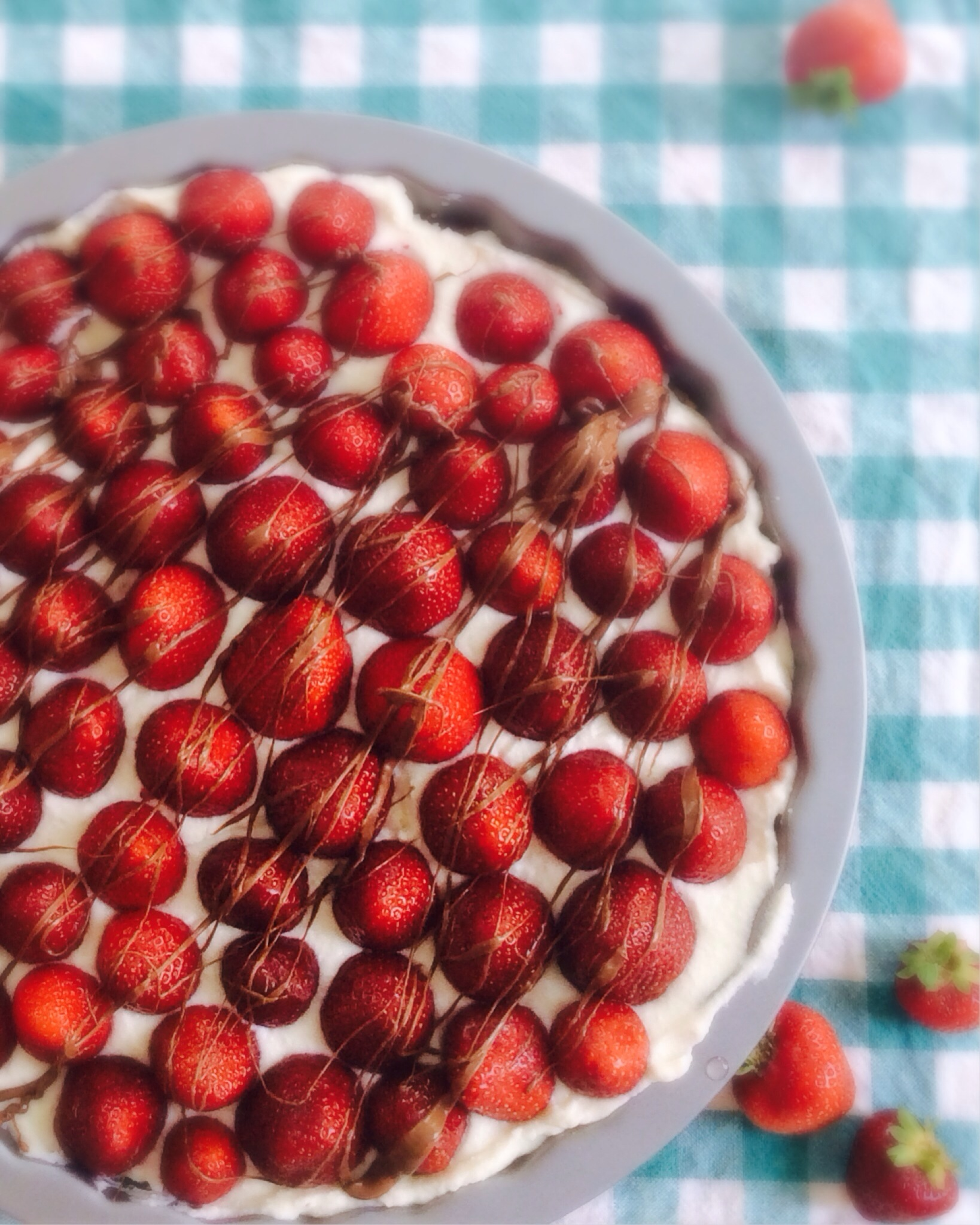 No Bake Strawberry Ricotta Cheesecake